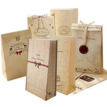 Bolsa de papel Kraft 24 piezas,Bolsa de fiesta Bolsa de ...