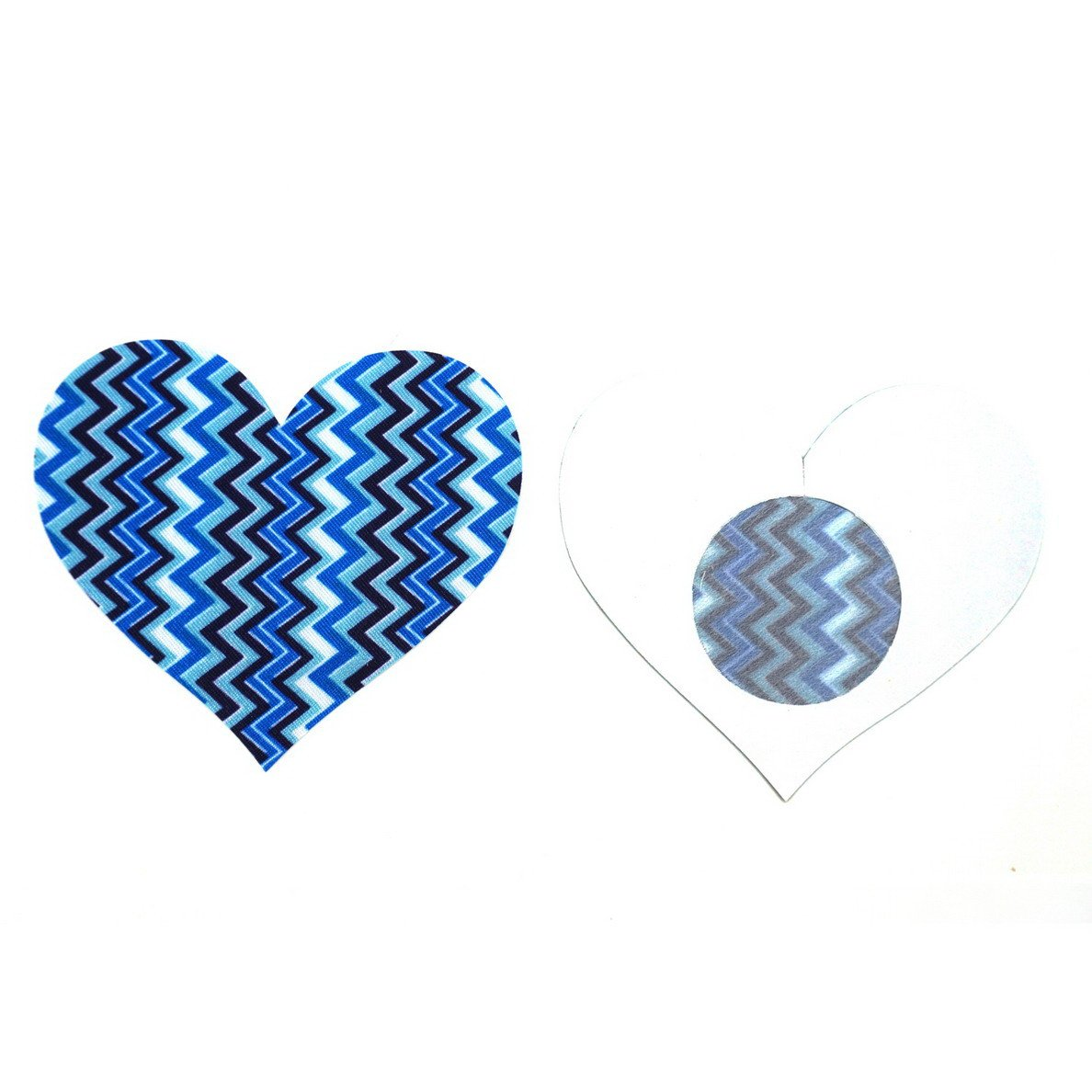 2abc50dbb6b89 10 Pairs Women Heart Shaped Disposable Pasties Nipple Cover Lingerie  Stickers - Blue  Amazon.ca  Luggage   Bags