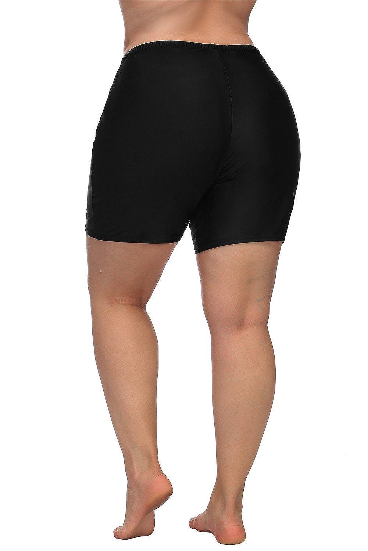 055a34edab ALove Women Plus Size Swim Shorts High Waist Board Shorts Stretchy Swimsuit  Bottoms at Amazon Women's Clothing store: