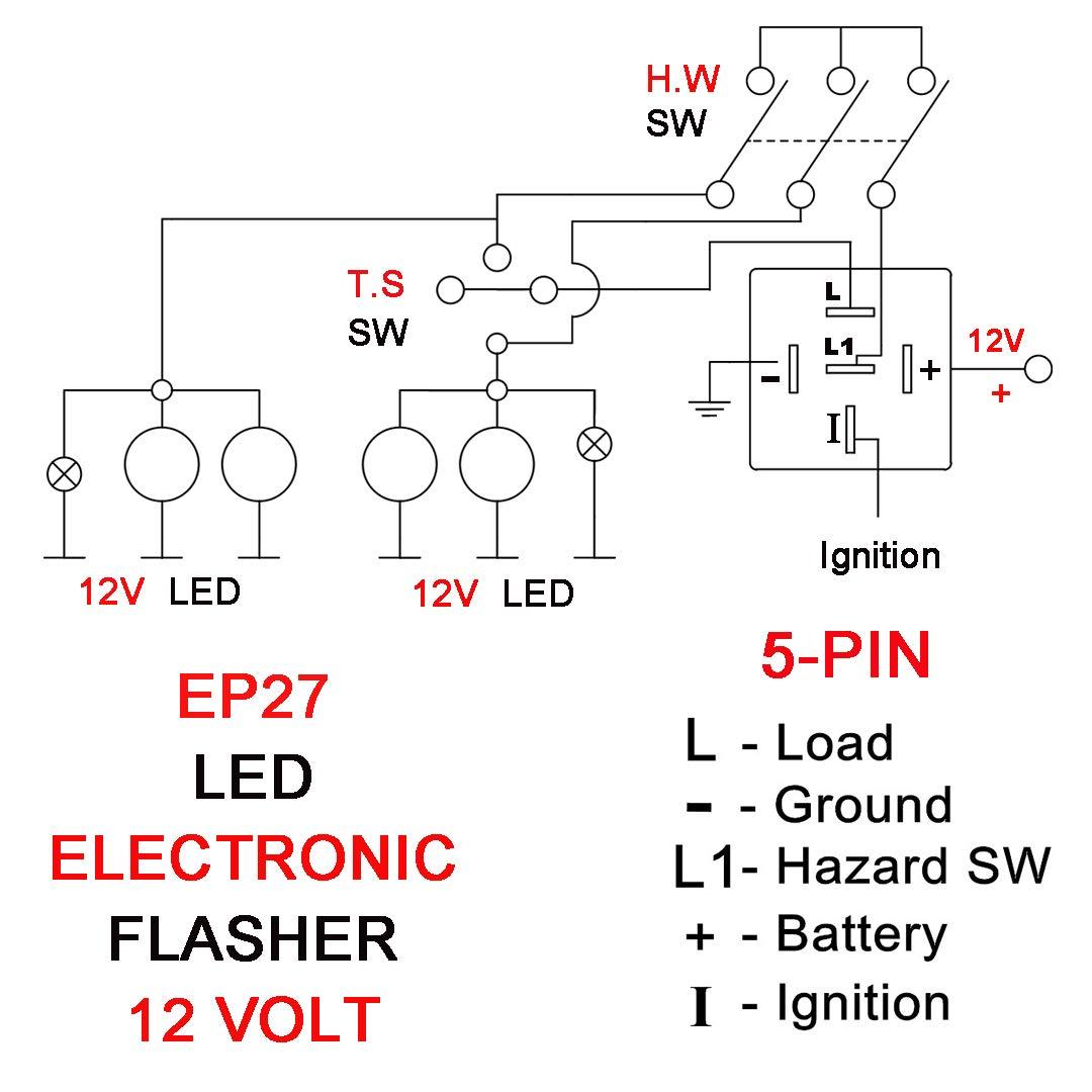 electronic flasher relay wiring diagram ep27 efl 4  for 2001 2017 jeep wrangler tj jk 1998 2002 dodge ram  for 2001 2017 jeep wrangler tj jk 1998