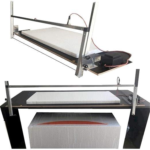 Werkstatt-Bedarf WDVS 002 - Cortadora de poliestireno (sierra térmica, soporte de aluminio anodizado, longitud máxima de corte de 110 cm, 40 cm de alto): ...