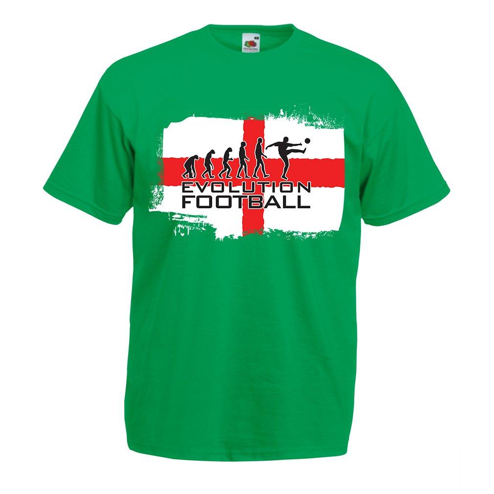 lepni.me Camisetas Hombre La Evolución de Fútbol - Inglaterra 72165385e4bb2
