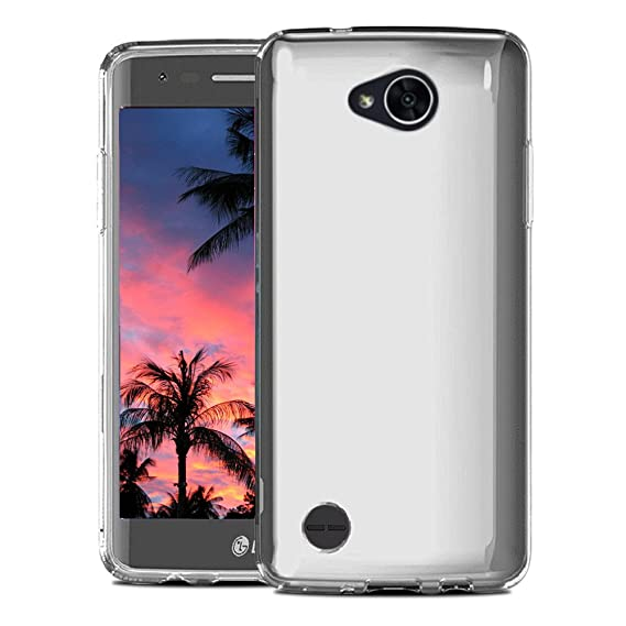 quality design 88577 2a2d6 LG X Charge   Fiesta 2   Fiesta LTE Case - (Clear) Slim Anti-Slip [Scratch  Resistant] Soft Silicone TPU Gel Protective Cover and Atom LED for LG X ...