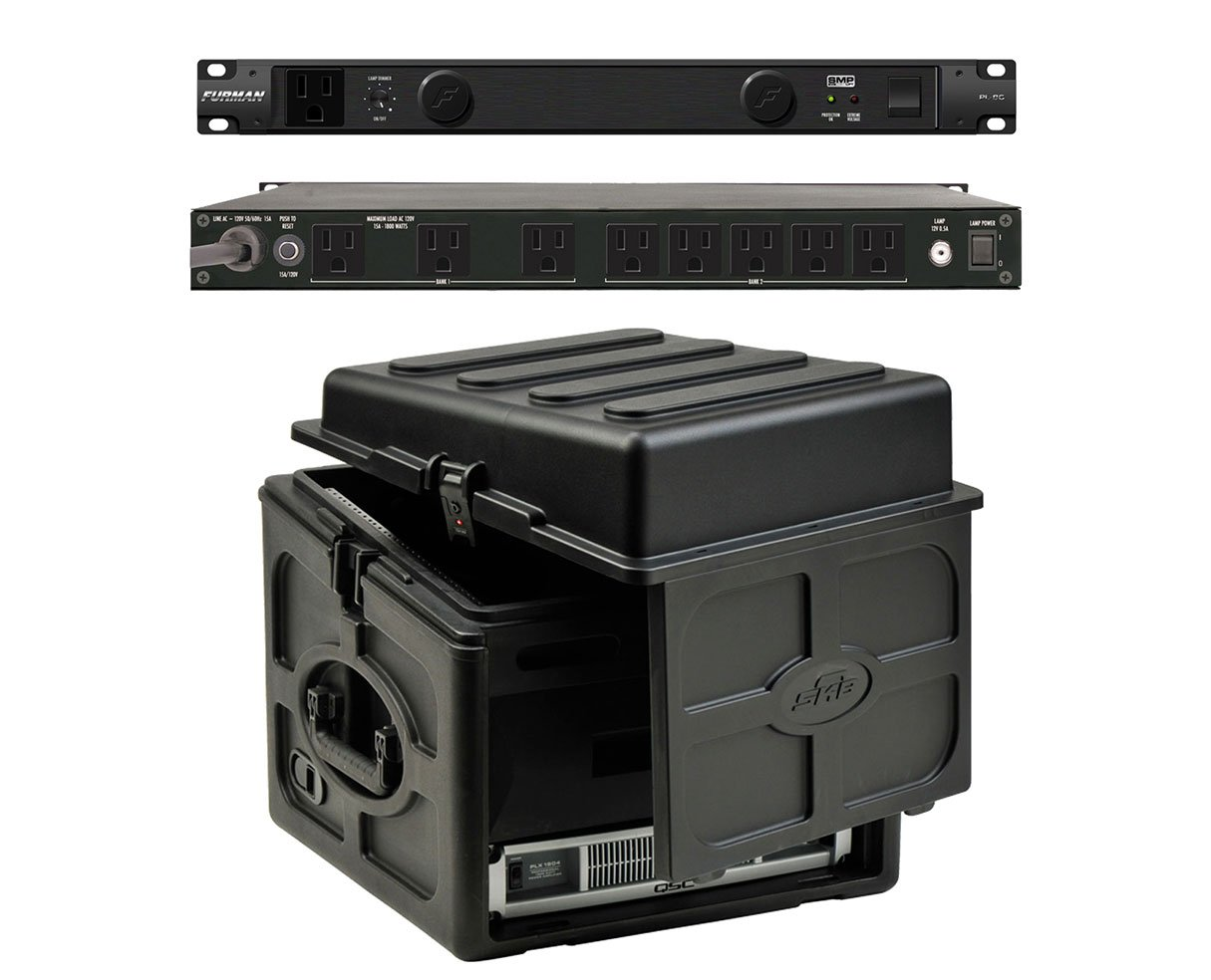 Furman PL-8 C Rack Mount Power Conditioner + SKB 1SKB-R106 10U x 6U Slant Combo