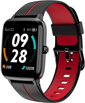 Smart Watch, Blulory Smart Watch for Men Women, 10 Sport Modes GPS Fitness Watch Heart Rate Sleep Monitor Fitness Tracker, Smartwatch Compatible iPhone Android Phones