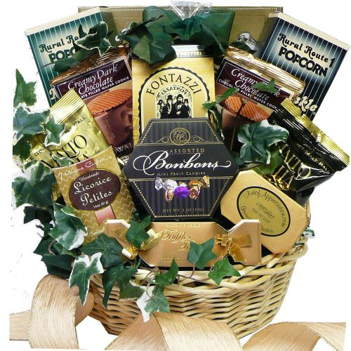 Art of Appreciation Gift Baskets Sweet Sensations Cookie, Candy and Treats Gift Basket, Medium (Chocolate)