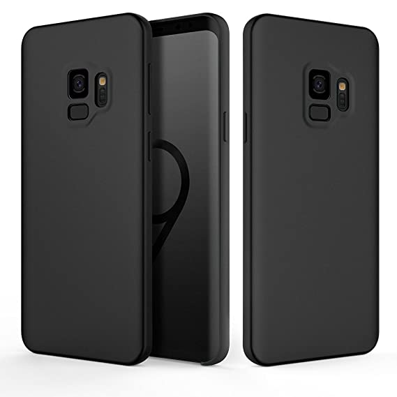 huge discount 00b52 2c06c Galaxy S9 Case, Fuleadture Liquid Silicone Gel Rubber Case Shockproof Slim  Soft Protective Cover with Microfiber Cloth Lining Cushion for Samsung ...