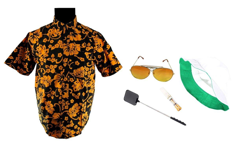 Fear & Loathing Las Vegas Shirt Hat Orange Glasses Cigarette Holder Swatter Duke (L)