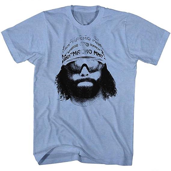 2Bhip Macho Man Wrestler Randy Savage Bandana Sunglasses Face Graphic Adult T-Shirt