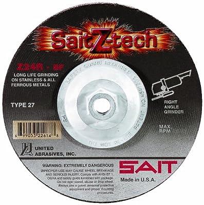 SAIT Type 27 Grinding Wheel, 10-Pack