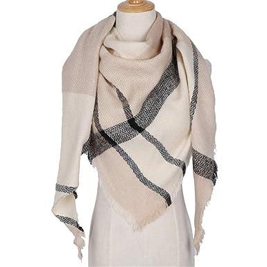 AFBLR Col écharpe châle Écharpe à carreaux femme imitation écharpe triangle  en cachemire automne et hiver 0e254f9a92e