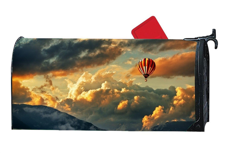 DHDFHDF Hot Air Balloon custom mailbox covers magnetic 6.5'' x 19''