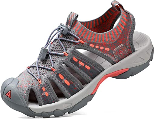 Amazon.com | HUMTTO Women's Outdoor Sport Sandals Knitted for Hiking/Cycling/Camping  Water Shoes Girls | Water Shoes