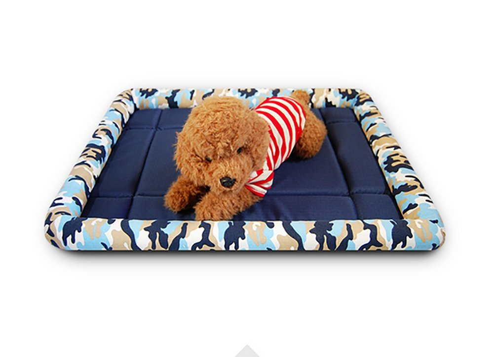 A BMDHA Summer Dog Bed Resistance to Bite Non-Stick Hair Sleeping Pad Kennel Cat Mat for Cats and Small Dogs 69×84Cm