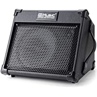 Coolmusic amplificador de guitarra acústica portátil de 40 W con entrada de micrófono, Bluetooth integrado, batería…