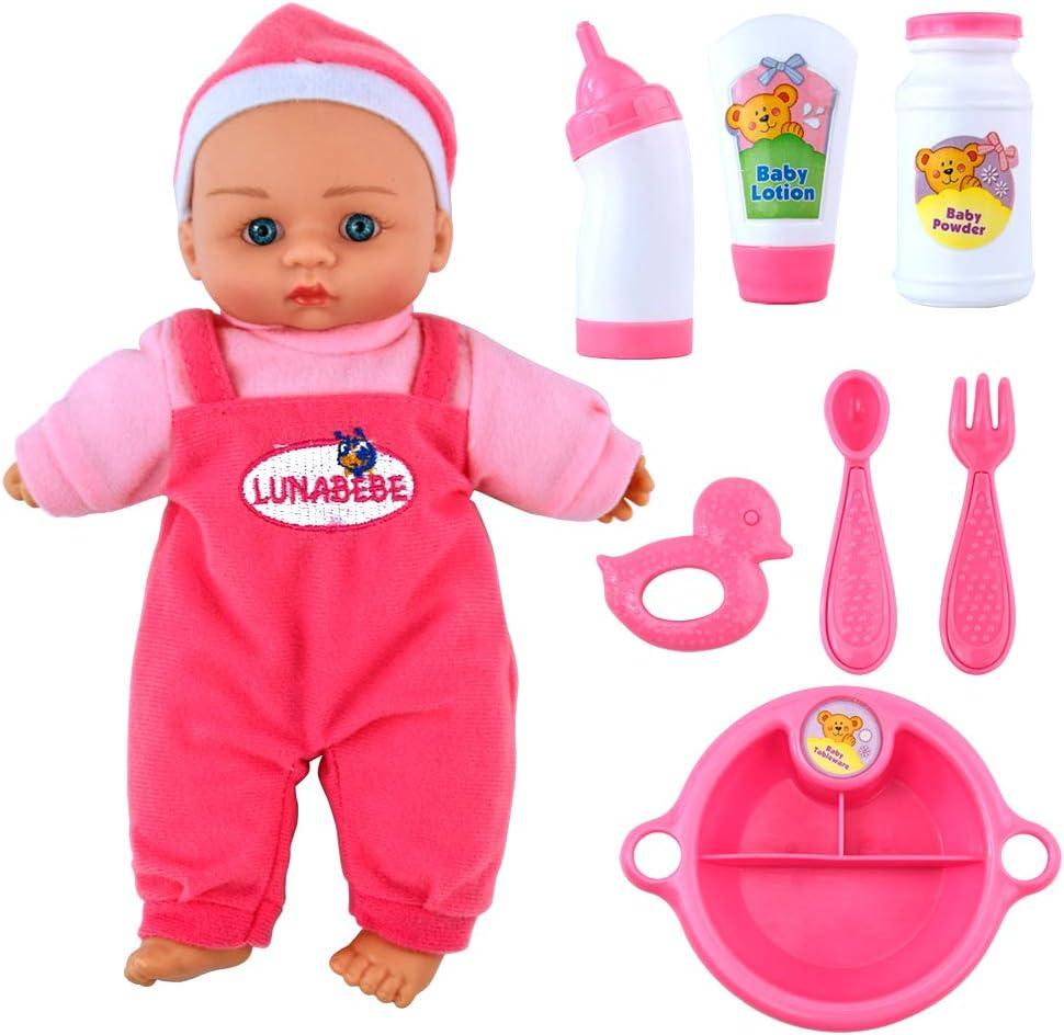 jerryvon Mini Bebe Reborn 10inch Renacido de la Reborn Muñeca de Silicona Suave Mitad Vinilo Bebe Reborn Niño Muñeca Reborn Babys Dolls, Rosa y Azul, Entrega Aleatoria de Color