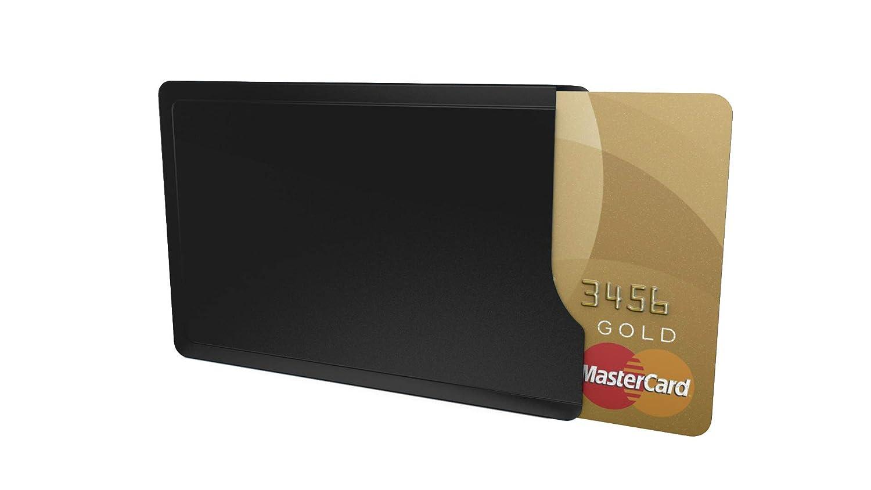 Kartenschutzhülle CardTresor Casual Edelstahl, schwarz matt, RFID/NFC-Schutz EC009