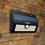 Mpow 3-in-1 LED Solar Lights with 20 Bright Nodes,Wireless Weatherproof Security Solar Light Motion Sensor Lamp and 3 Intelligent Modes - Black Bild 3