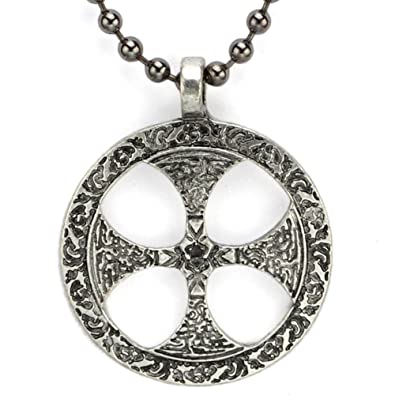 Mcsays mens fashion retro amulet necklace norse viking celtics sun mcsays mens fashion retro amulet necklace norse viking celtics sun cross pendant rosary chain aloadofball Image collections