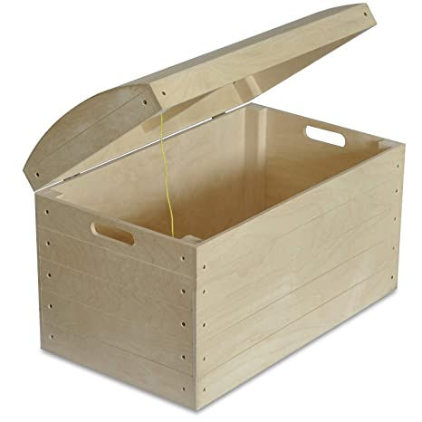Creative Deco Grande Caja Almacenaje Juguetes Madera | 56,5 x 33 x 36,