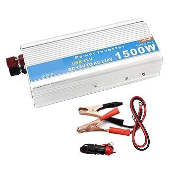 CAPTIANKN Inversor de la energía 1500W, C.C. 12V al Transformador de la CA 110V 220V