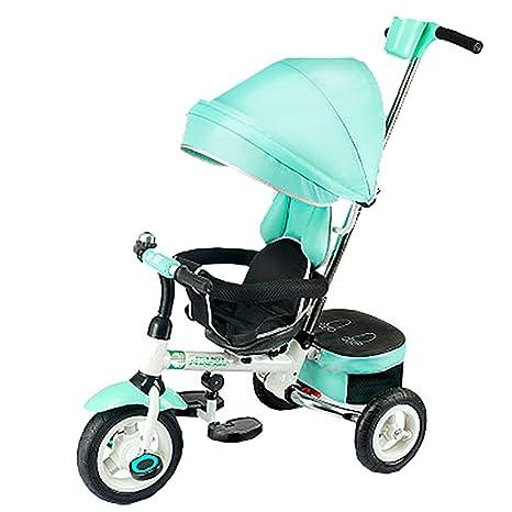 ZELIAN Triciclo Plegable para Niños Bicicleta para Bebés Rueda Inflable Libre Carrito para Bebés 1-3-5 Años Cochecito para Bebés (Color : Green): Amazon.es: ...