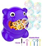 BDwing Bubble Machine, Bubble Maker Blower, Kids Toys with 5 Extra Bubble Bars, Mini Screwdriver, 500 Bubbles per Minute Indoor Outdoor Play, Birthday Parties, Picnics