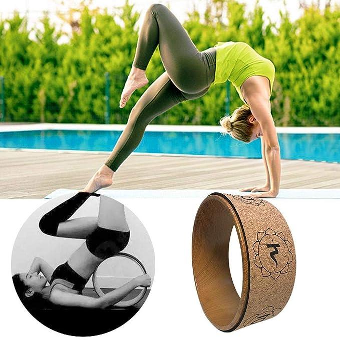 Rueda De Yoga De Corcho, Rueda De Ayuda De Yoga Impresa En ...