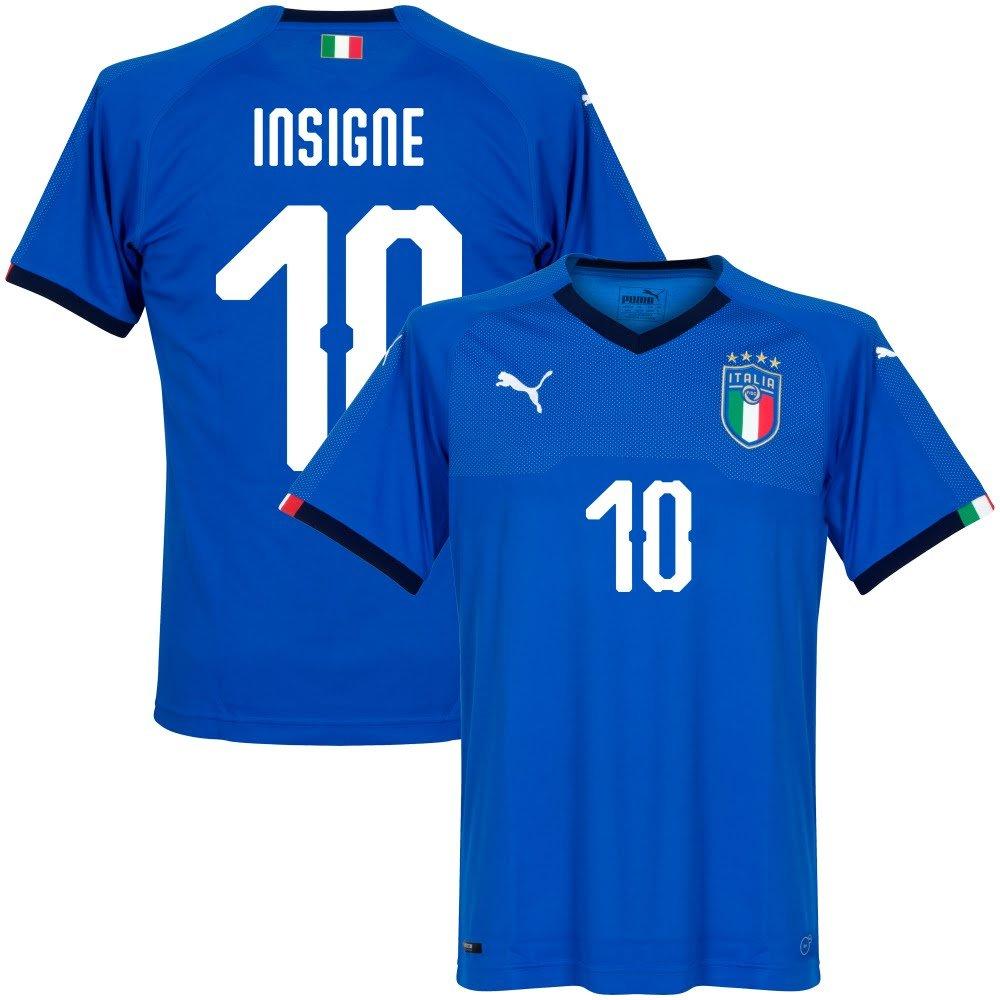 Italien Home Trikot 2018 2019 + Insigne 10 (Fan Style)