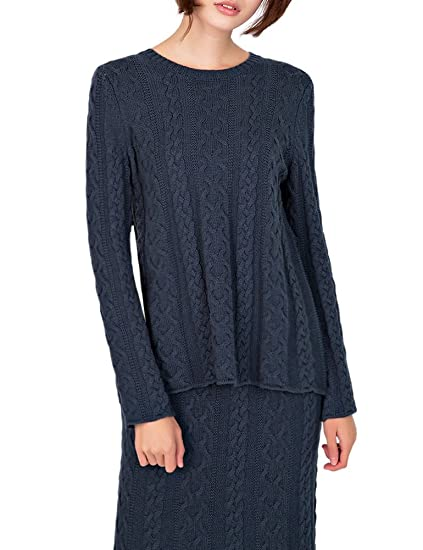 Deluxsey Cable Knit Sweater Maxi Skirt Winter Sweaters For Women
