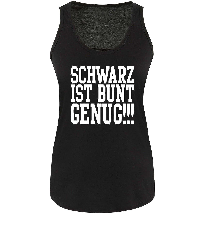Gr S-XL Damen Tank Top FRÖHLICHES SCHWARZ Comedy Shirts
