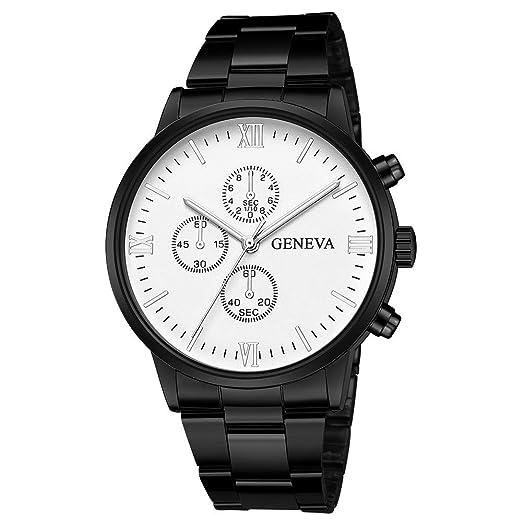 Dylung Reloj para Hombre de Moda Casual Reloj de Pulsera Elegante de Caballero Relojes de Hombre Unisex de Cuarzo Analógico de Acero Inoxidable Regalos ...