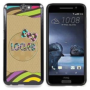 "Planetar ( Green Dot Plata Sparkle White Glitter"" ) HTC One A9 Fundas Cover Cubre Hard Case Cover"