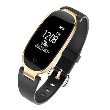 Laurelmartina Reloj de Pulsera Impermeable LEMFO S3 Bluetooth 4.0 Reloj Inteligente con Monitor de frecuencia cardíaca