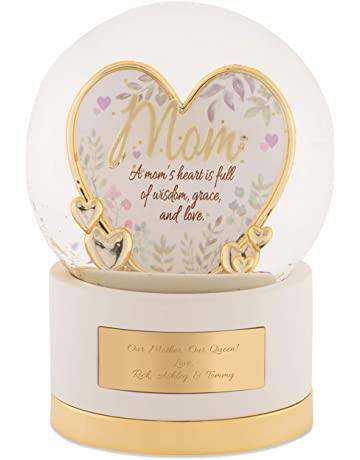 eb8fa3818bb Things Remembered Personalized Gold Mom Heart Snow Globe with Engraving  Included