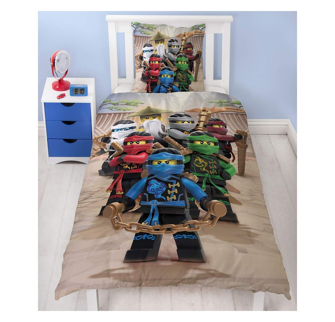 Character World Lego Ninjago Parure de lit pour Enfant en Flanelle de Coton 2/pi/èces en Flanelle 80/x 80/ /Allemande de Taille Standard 135/x 200/cm 100/% Coton/