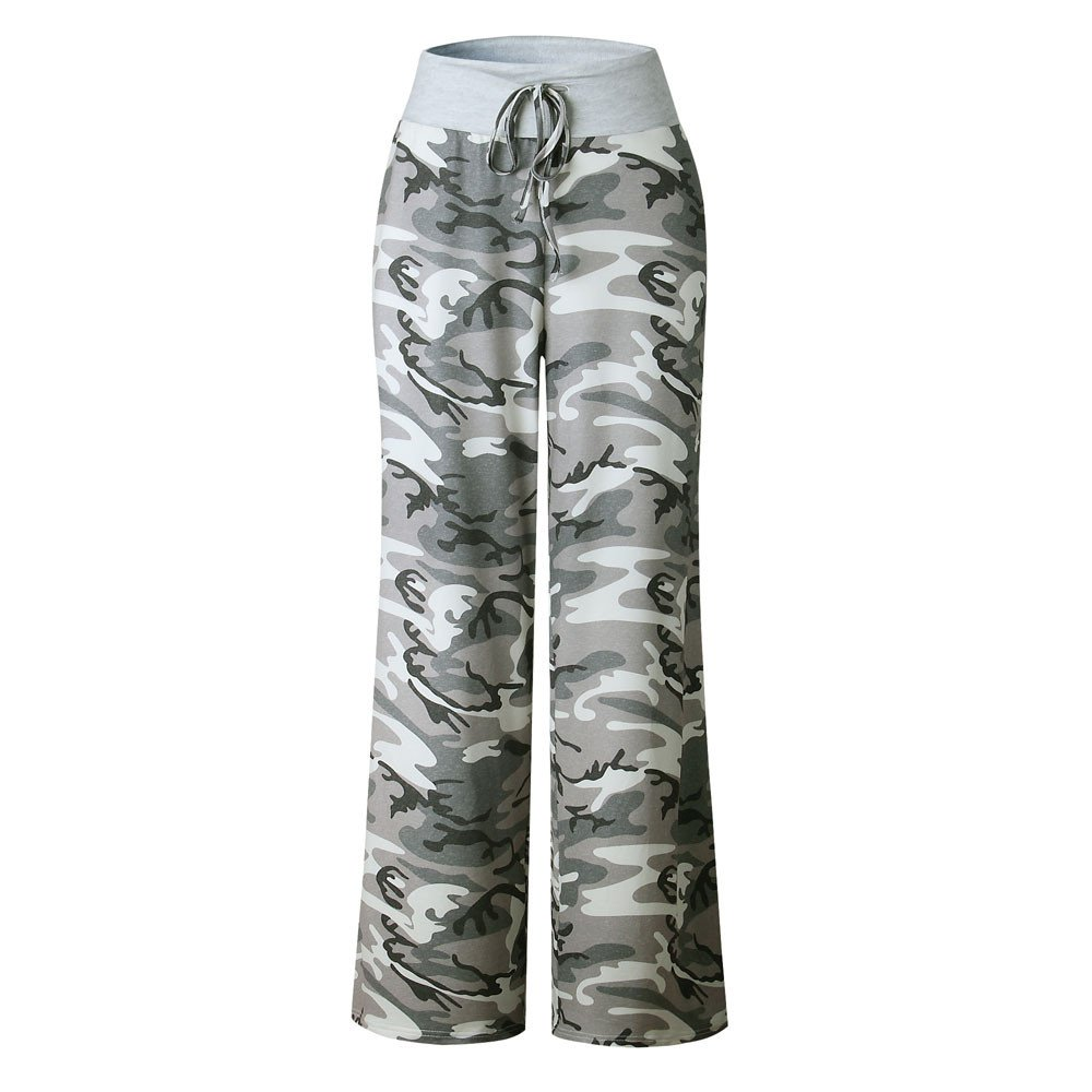 2018 Pajama Pants,Women Ladies Floral Prints Drawstring Wide Leg Trousers Leggings by-NEWONSUN Camouflage
