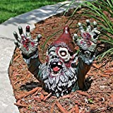 Design Toscano Zombie Gnombie Gothic Decor Garden Gnome Graveyard Statue, 11 Inch, Polyresin, Full Color