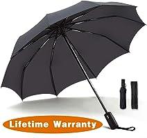 Umbrella,JUKSTG 10 Ribs Auto Open/Close Windproof Umbrella, Waterproof Travel Umbrella,Portable Umbrellas with Ergonomic...