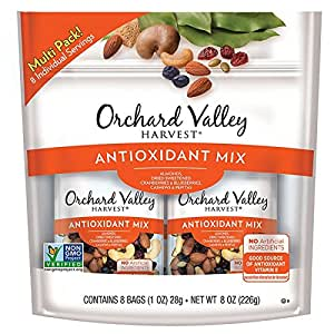 ORCHARD VALLEY HARVEST Antioxidant Mix, Non-GMO, No Artificial Ingredients, 1 oz (Pack of 8)