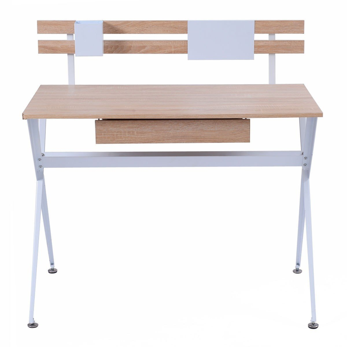 Apontus Wood Top Computer Desk Writing Workstation
