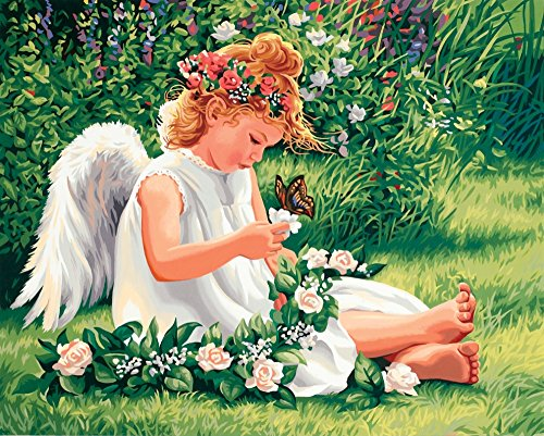 Dimensions Needlecrafts Paintworks Paint By Number, Darling Angel Angel Paint