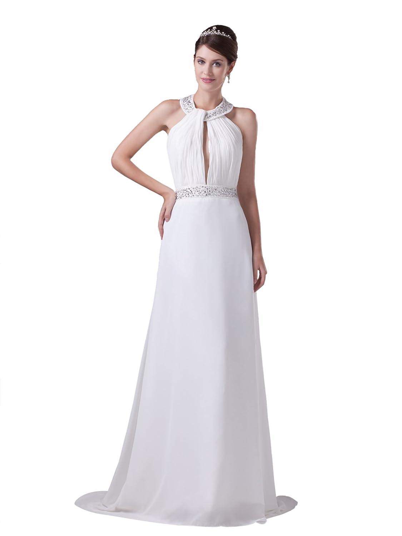Dresstells Glamourös Damen Kleid Lang Chiffon Abendkleider Ballkleid ...