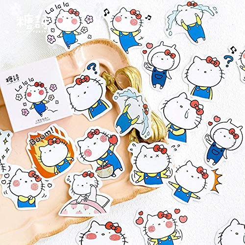 Kitty Scrapbooking Cat - Cute Sticker - Exciting Kitty Cat Decorative Washi Stickers Scrapbooking Stick Label Diary Stationery Album Stickers
