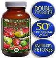 Green Coffee Bean Extract (800mg) combined with Raspberry Ketones (100mg) | MAX 50% Chlorogenic Acids