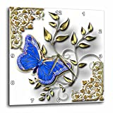 Cheap 3dRose dpp_150948_3 Blue Butterfly and Gold Accents Wall Clock, 15 by 15-Inch