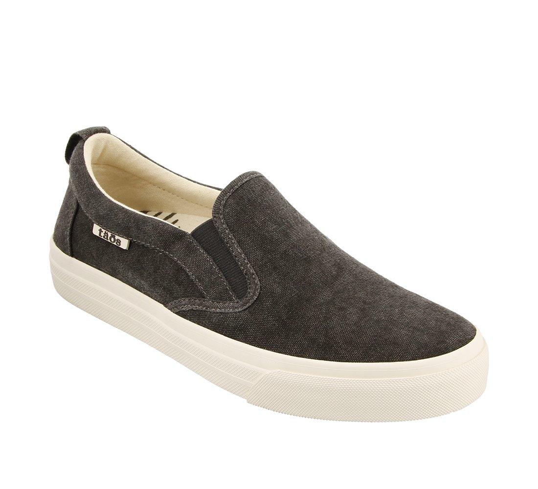 Taos Footwear Women's Rubber Soul Slip On B073MK6X6X 7 M US|Charcoal Wash Canvas