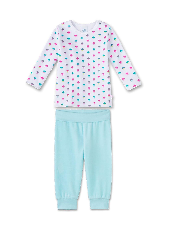 Sanetta Baby-Mädchen Zweiteiliger Schlafanzug Weiß (White 10) 80 221261