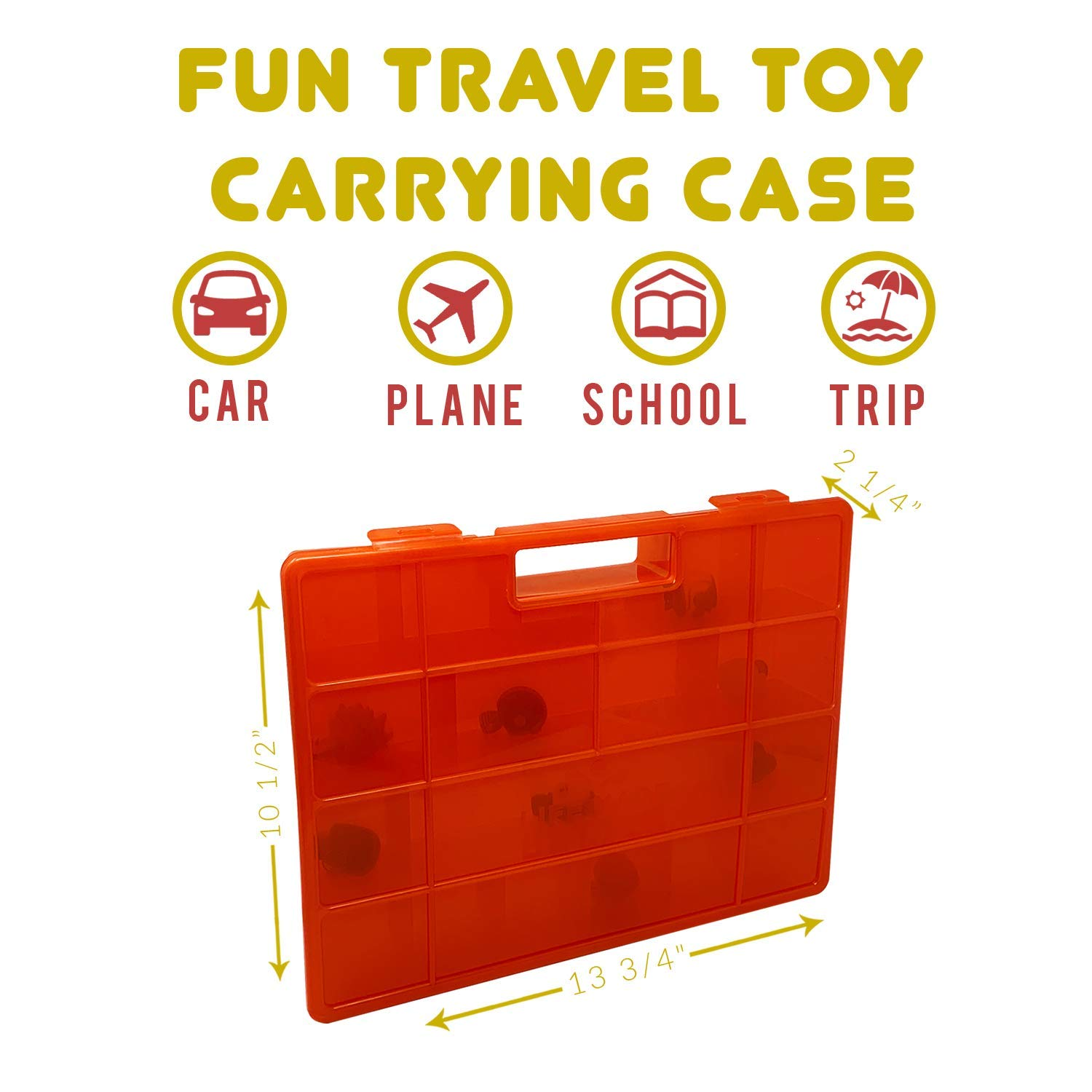 Life Made Better Playset Organization /& Sorting Accessory Created by LMB Compatible with Splashlings Long-Lasting Plastic Toy Storage Red Durable