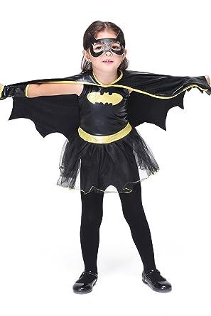 24070af6824f88 (ゾンシノー)Zoncinoo 子供 バットマン コスプレ キッズ ハロウィン衣装 女の子 コスチューム コスプレ衣装 仮装 子供